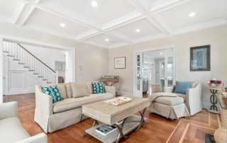 Living Room remodeled by ERI Building & Design, LLC in Darien, CT