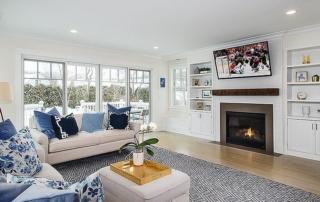 Living room remodeled by ERI Building & Design, LLC