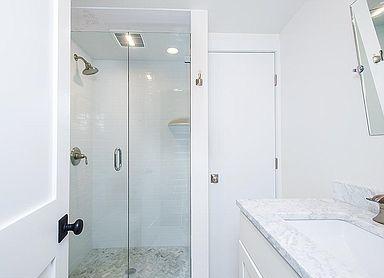 Shower remodeled by ERI Building & Design, LLC